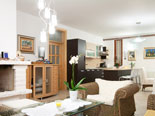 Living room and kitchen on the ground floor of five star villa in Šibenik region in Croatia