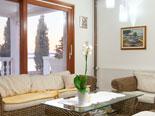 Living room on the ground floor of five star villa in Šibenik region in Dalmatia