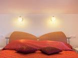 Bedroom in luxury holiday villa in Dalmatia in Šibenik region