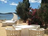 Outside furniture on villa BBQ terrace