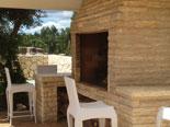 BBQ on outside terrace of the villa in Šibenik region