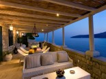 The view on island and sea from the luxury Villa's terrace