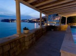 The view on the Old Dubrovnik City walls from the luxury Villa's pool