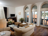 Living room in luxury Hvar villa in Dalmatia in Croatia