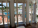 View from the living room in luxury Hvar villa in Dalmatia in Croatia