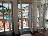 View from the living room in luxury Hvar villa in Dalmatia in Croatia