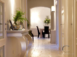 Hallway in luxury villa for rent in Hvar in Dalmatia in Croatia
