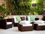 Lounge on the outside terrace in luxury Dalmatian villa for rent in Hvar in Croatia