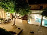 View on the outside terrace with pool in luxury Dalmatian Hvar rental villa in Croatia