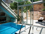 Indoor pool in Hvar luxury rental villa in Dalmatia Croatia