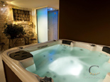 Jacuzzi in luxury villa in Hvar in Dalmatia in Croatia