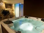 Jacuzzi in luxury villa in Hvar in Dalmatia in Croatia
