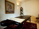 Massage table in luxury villa in Hvar in Dalmatia in Croatia