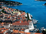 View on Hvar town and this luxury villa