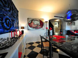Stylishly decorated dining room in this Dalmatian villa