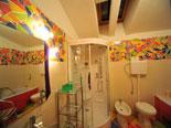 Bathroom on the first floor in this stylish villa on Hvar island