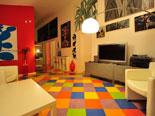 Living room on the first floor in luxury Hvar villa for rent