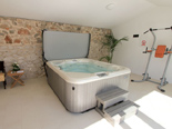 Jacuzzi in outside facility in the five star lighthouse villa on the island Vir in Zadar region