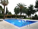 Pool area in luxury Dalmatian villa in Split Croatia