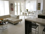 Kitchen and leisure area in luxury Dalmatian villa in Split Croatia