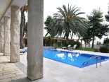 View on the pool of luxury villa in Split Dalmatia Croatia