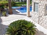 View on the pool of luxury villa in Split Dalmatia Croatia