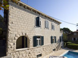 The villa is build in traditional residential Dalmatian style