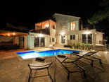 Modern Dalmatian seafront villa with pool on Brac Island in Split region