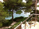 View from the terrace of the Brac villa with pool
