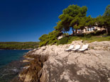 Below this Brac luxury villa is a rocky beach