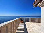 Brethtaking views from terrace of this rental holiday villa on Korcula island