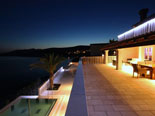 Night atmosphere on this central outside terrace of this Dalmatian villa