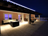 Night atmosphere on this central terrace of this luxury villa