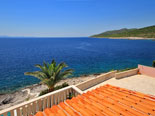 View from the top floor terrace of this Korcula villa