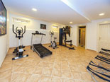 In the basement of this five star villa there is a  gym, ...