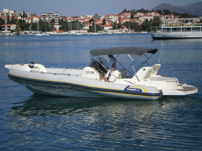 Marlin 29 - exclusive RIB Inflatable boat for excursions and transfers for rent in Dubrovnik region