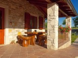 Outside terrace of the High quality villa with pool in Istria near Labin and Rabac