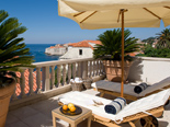 The view from the villa's terrace on the Dubrovnik City Walls