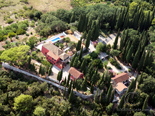 Aerial view on Luxury Villa on Dubrovnik Riviera