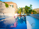 On the pool in the luxury villa on Dubrovnik Riviera