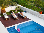 Pool and sundeck in Dubrovnik Riviera luxury villa