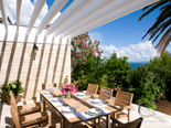 Luxury Beachfront Villa on Peljesac - Terrace dining