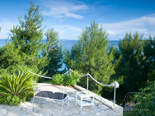 Luxury Beachfront Villa on Peljesac - Terrce in pine trees