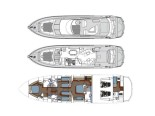 Sunseeker Layout - Luxury Yacht for Rent in Split Croatia