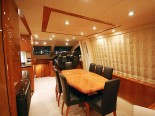 Sunseeker 75 Dining room - Luxury Yacht Rental Split Croatia