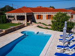 View from the pool on luxury villa in Konavle in Dubrovnik Region