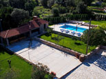 Another view on the pool and courtyard area of the luxury villa in Dubrovnik region