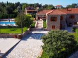 Another view on the pool and the luxury villa in Dubrovnik region