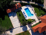 Aerial view on the luxury villa in Konavle in Dubrovnik region
