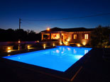 Night view on this Konavle luxury villa
